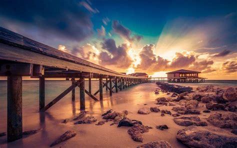 nature landscape maldives sunset resort sun rays