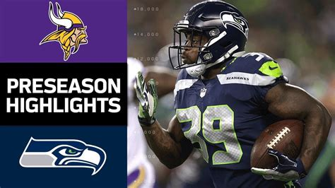 vikings  seahawks nfl preseason week  game