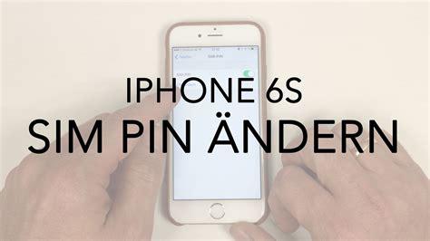 iphone   sim pin aendern youtube