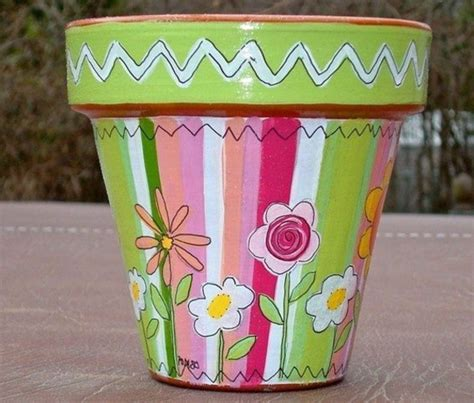 Möbel Bemalen Welche Farbe by Einen Blumentopf Bemalen 50 Coole Ideen Archzine Net