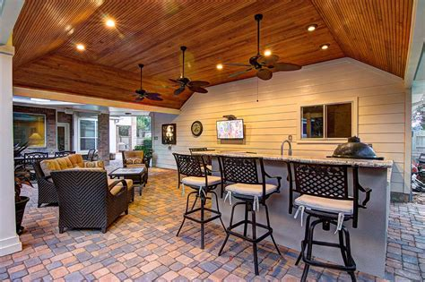 Patio And Outdoor by Tongue And Grove Patio Cover Plus Outdoor Kitchen Hhi