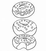 Coloring Donut Pages Popular sketch template