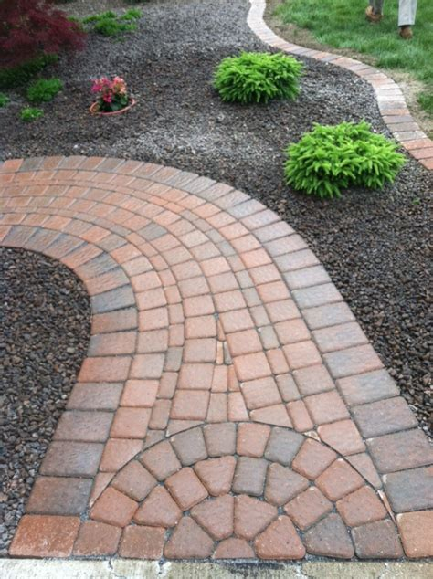 paver walkway ideas paver sidewalk besaw s landscaping pinterest