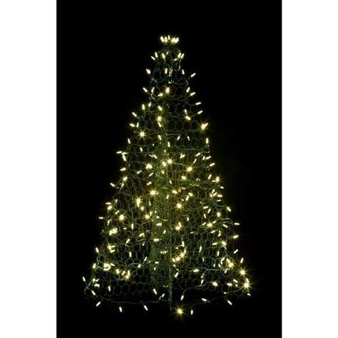 green light christmas tree crab pot trees 3 ft pre lit led green artificial