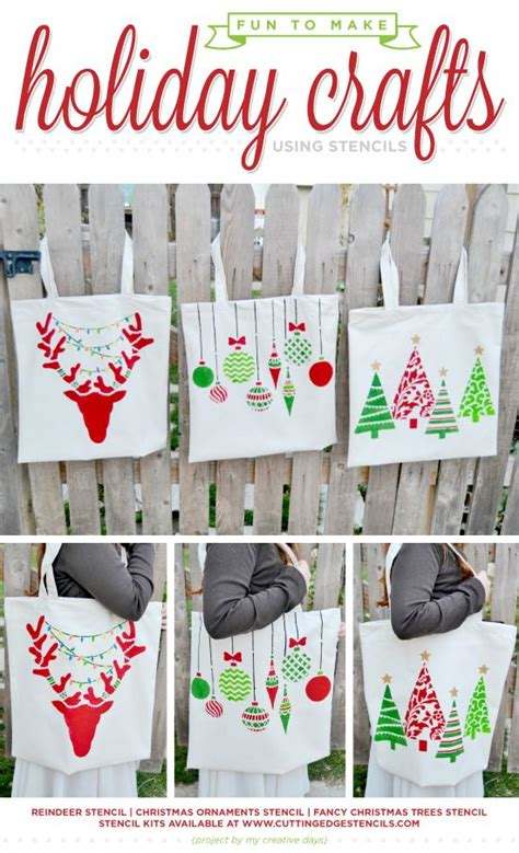 fun   holiday crafts  stencils holiday