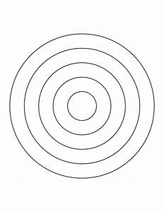 5 concentric circles clipart etc With bullseye chart template
