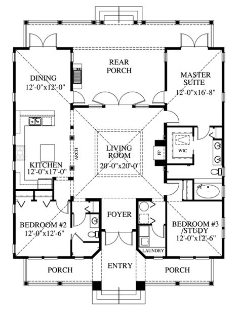 seaside house plan chp 39721 at coolhouseplans
