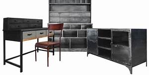Mobilier Pas Cher : mobilier style industriel pas cher mobilier style ~ Melissatoandfro.com Idées de Décoration