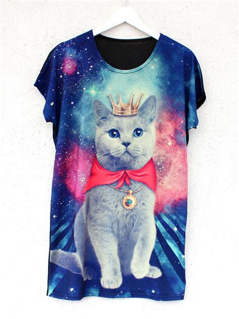 cat in space t shirt meow in space t shirt cat galaxy from batoko more of