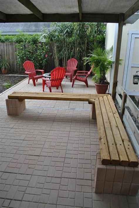 furniture  shaped cream cinder block bench  soft