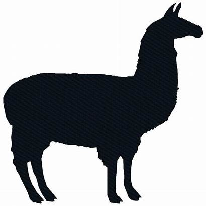 Llama Silhouette Embroidery Machine Designs Animal 4x4