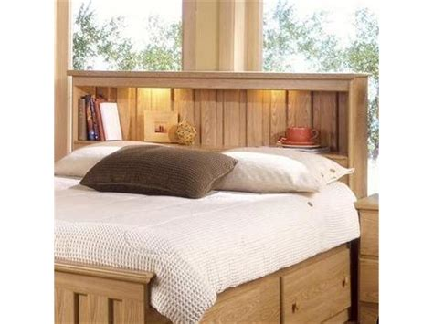 Lighted Bookcase Headboard - lang furniture bedroom bookcase headboard