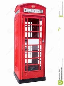 Red Phone Booth stock photo. Image of history, isolated ...