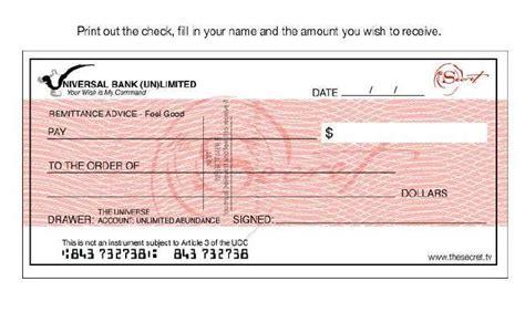 Planeta Inquietante: El cheque del banco universal