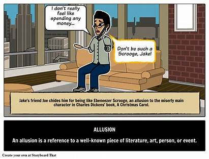 Allusion Definition Literary Examples Define Terms Storyboard