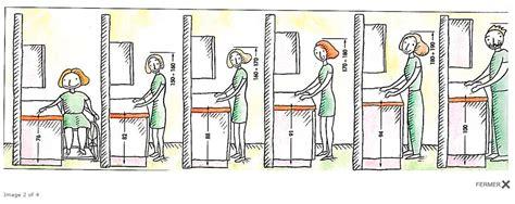 hauteur plan de travail cuisine l ergonomie dans la cuisine
