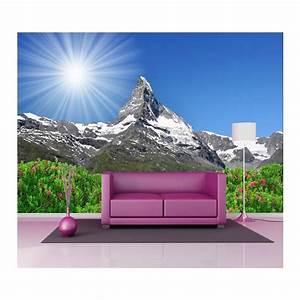 Papier Peint Geant : papier peint g ant d co montagne 250x360cm art d co stickers ~ Premium-room.com Idées de Décoration