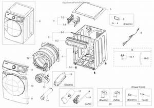 Parts For Samsung Dv45k6200ew  A3    0000  Main Asy Parts