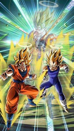 fused fighting force super saiyan goku vegeta angel