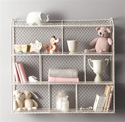 wire cubby shelf large vintage wire cubby shelf white