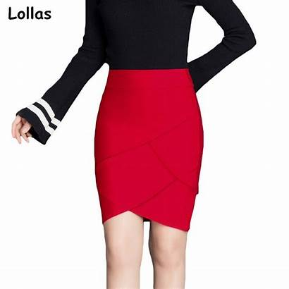 Skirt Tight Office Pencil Lollas Lady Step