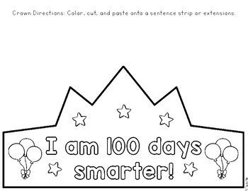 100th Day Of School Crown Template 100th Day Of School Crown By Be Kindergarten Teachers
