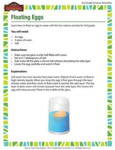 Does It Sink Or Float Worksheet by Floating Eggs Free Science Activities For Third Grade