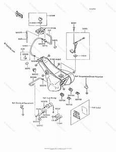 Kawasaki Motorcycle 1994 Oem Parts Diagram For Fuel Tank