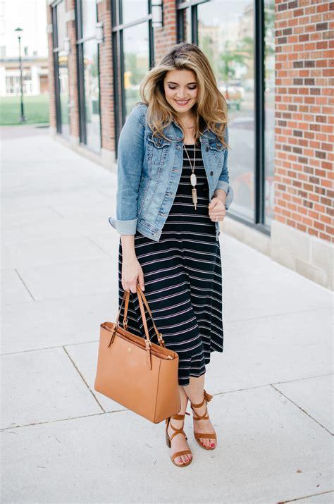 Striped Midi Dress | By Lauren M