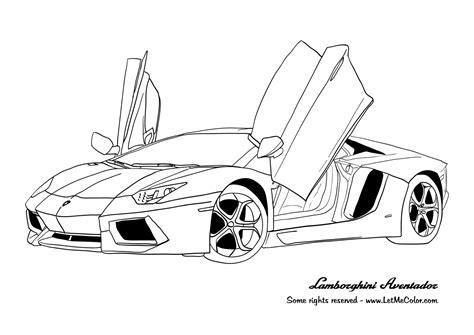 Ferrari In Black And White Coloring Sheet Gulfmik