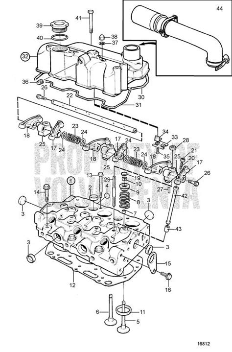 volvo penta exploded view schematic cylinder head md