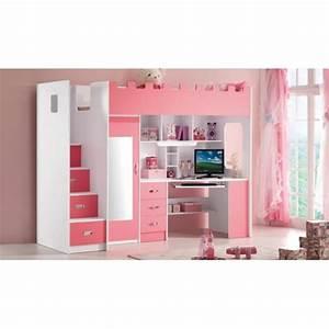 Lit Princesse Pour Fille : lit princesse pas cher maison design ~ Teatrodelosmanantiales.com Idées de Décoration