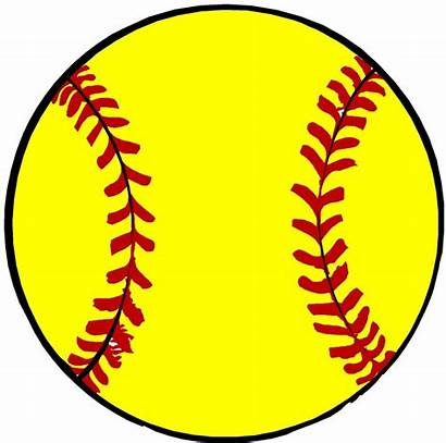Softball Clip Clipart Ball Draw Background Clipartion