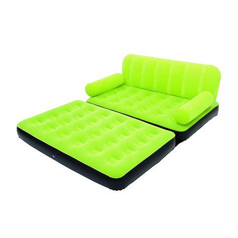canapé lit gonflable electrique canapé lit gonflable 4 en 1 vert pompe incluse maison