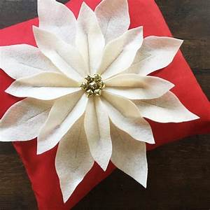 Pattern  Paper   Poinsettia Pillow Instructions And