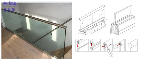 customized  channel glass balustrade aluminum glass shoes