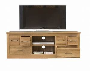 Mobel Oak Widescreen Television Cabinet Living Room