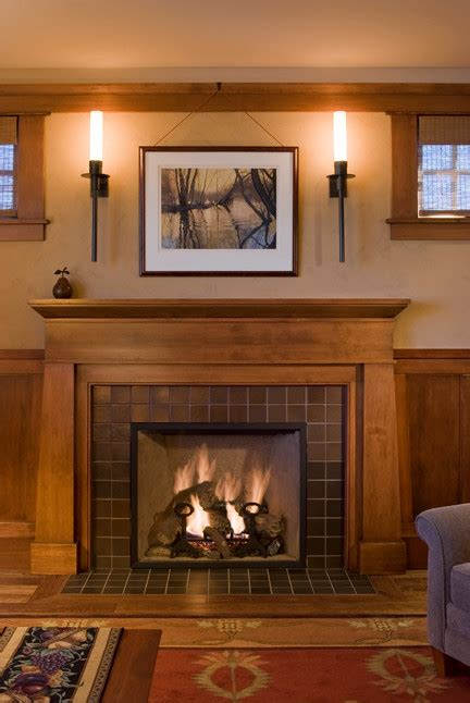 craftsman style fireplace family room craftsman  arts