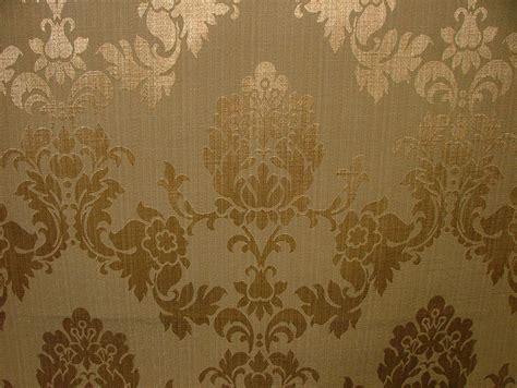 Antique Upholstery by Antique Gold Madagascar Designer Curtain Brocade Damask