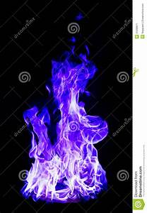 Blue Fire On Black Background Stock Image - Image: 31299871