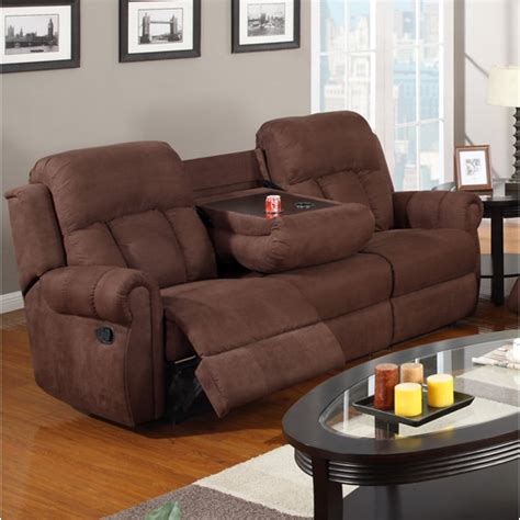 leather sectional recliner sofa with cup holders sofa recliners with cup holders brown leather plush 3
