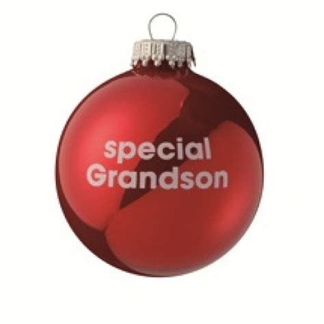 special grandson red christmas tree bauble