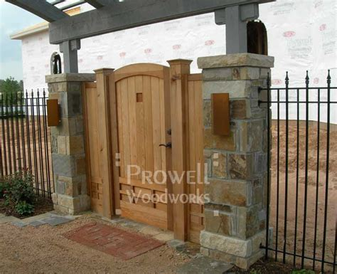 Wood Privacy Gate #89 Prowell Woodworks