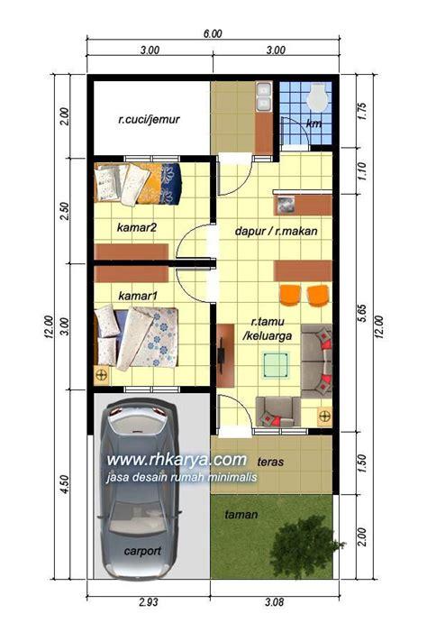 contoh denah rumah minimalis modern nyaman