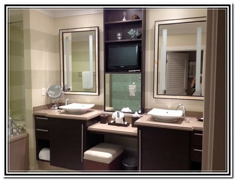 Bathroom Makeup Vanity Ideas by Built In Bathroom Makeup Vanity Home Design Ideas