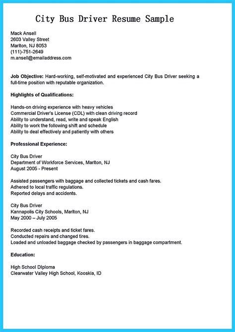 School Driver Description For Resume by Driver Description For Resume Resume Ideas