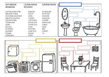 Rooms And Furniture  The House Worksheet By Esl And More