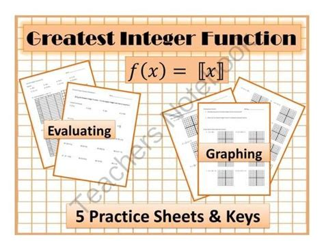 step function greatest integer function worksheet
