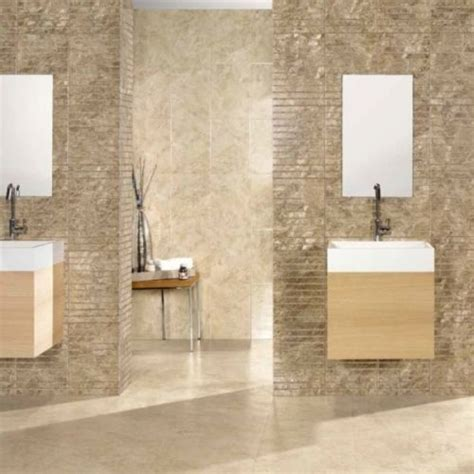 fusion gloss light beige travertine effect bathroom