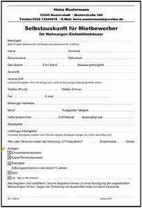 Was Ist Selbstauskunft : selbstauskunft f r mietbewerber wohnung formulare gratis ~ Lizthompson.info Haus und Dekorationen